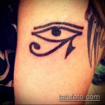 глаз гора тату №424 - эксклюзивный вариант рисунка, который легко можно использовать для доработки и нанесения как тату глаз гора на шее