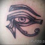 глаз гора тату №189 - эксклюзивный вариант рисунка, который легко можно использовать для доработки и нанесения как глаз гора тату