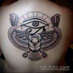 глаз гора тату №716 - классный вариант рисунка, который успешно можно использовать для переделки и нанесения как глаз гора тату оберег