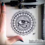 глаз гора тату №552 - эксклюзивный вариант рисунка, который легко можно использовать для преобразования и нанесения как глаз гора тату оберег