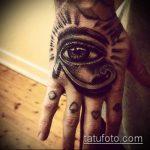 глаз гора тату №537 - достойный вариант рисунка, который успешно можно использовать для переделки и нанесения как глаз гора тату в цвете