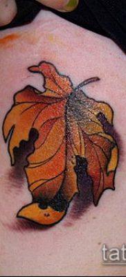 дубовые листья тату №727 – достойный вариант рисунка, который легко можно использовать для переработки и нанесения как тату дубовые листья
