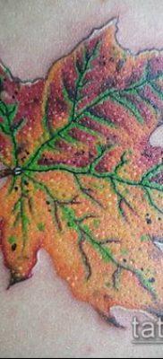 дубовые листья тату №826 – классный вариант рисунка, который легко можно использовать для преобразования и нанесения как дубовые листья тату на