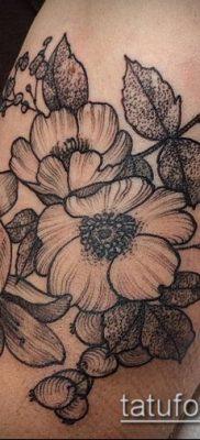 дубовые листья тату №256 – прикольный вариант рисунка, который удачно можно использовать для переделки и нанесения как тату дубовые листья
