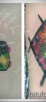 дубовые листья тату №631 – уникальный вариант рисунка, который легко можно использовать для доработки и нанесения как листья дуба тату