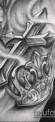 фото латинский крест тату (Tattoo) (значение) – пример рисунка – 016 tatufoto.com