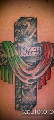 фото латинский крест тату (Tattoo) (значение) – пример рисунка – 063 tatufoto.com