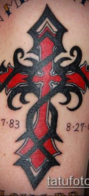 фото латинский крест тату (Tattoo) (значение) – пример рисунка – 071 tatufoto.com