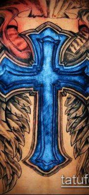латинский крест тату №54 – классный вариант рисунка, который легко можно использовать для переработки и нанесения как латинский крест тату