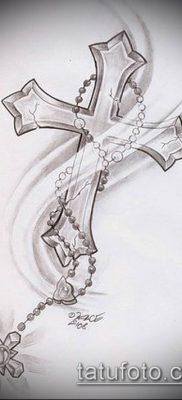 латинский крест тату №344 – крутой вариант рисунка, который легко можно использовать для преобразования и нанесения как латинский крест тату на запястье