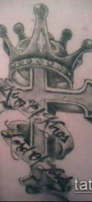 латинский крест тату №641 – классный вариант рисунка, который легко можно использовать для переделки и нанесения как латинский крест тату