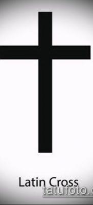 латинский крест тату №967 – эксклюзивный вариант рисунка, который успешно можно использовать для преобразования и нанесения как латинский крест тату на боку