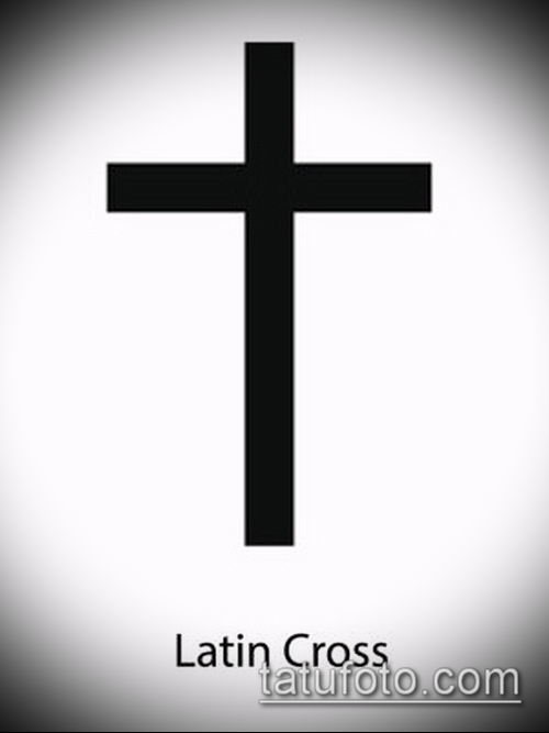 латинский крест тату №967 - эксклюзивный вариант рисунка, который успешно можно использовать для преобразования и нанесения как латинский крест тату на боку