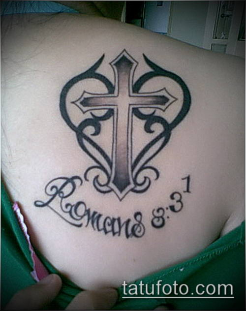 латинский крест тату №39 - уникальный вариант рисунка, который успешно можно использовать для доработки и нанесения как латинский крест тату на руке
