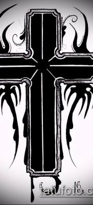 латинский крест тату №278 – достойный вариант рисунка, который удачно можно использовать для переделки и нанесения как латинский крест тату на шее