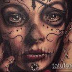 муэртос тату №280 - прикольный вариант рисунка, который хорошо можно использовать для переработки и нанесения как муэртос тату маски
