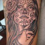 муэртос тату №279 - классный вариант рисунка, который успешно можно использовать для преобразования и нанесения как муэртос тату маски