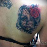 муэртос тату №684 - классный вариант рисунка, который успешно можно использовать для преобразования и нанесения как муэртос тату