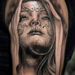 муэртос тату №311 - достойный вариант рисунка, который успешно можно использовать для переработки и нанесения как муэртос тату на руке