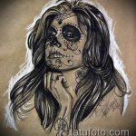 муэртос тату №233 - классный вариант рисунка, который хорошо можно использовать для переработки и нанесения как муэртос тату предплечье
