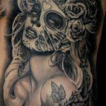 муэртос тату №203 - классный вариант рисунка, который успешно можно использовать для переработки и нанесения как муэртос тату хной