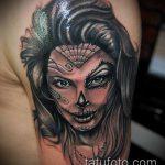 муэртос тату №416 - эксклюзивный вариант рисунка, который хорошо можно использовать для переделки и нанесения как муэртос тату хной