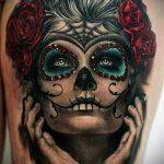 муэртос тату №814 - классный вариант рисунка, который удачно можно использовать для доработки и нанесения как муэртос тату хной