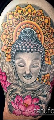 фото тату Будда (Buddha tattoo) (значение) – пример рисунка – 009 tatufoto.com