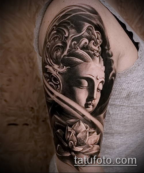фото тату Будда (Buddha tattoo) (значение) - пример рисунка - 023 tatufoto.com