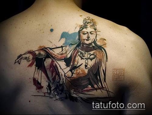 фото тату Будда (Buddha tattoo) (значение) - пример рисунка - 028 tatufoto.com