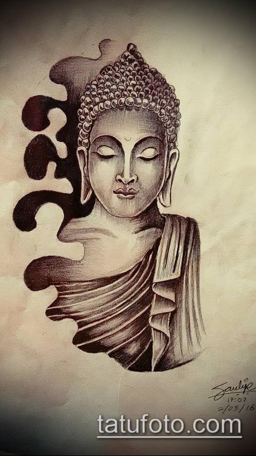фото тату Будда (Buddha tattoo) (значение) - пример рисунка - 039 tatufoto.com