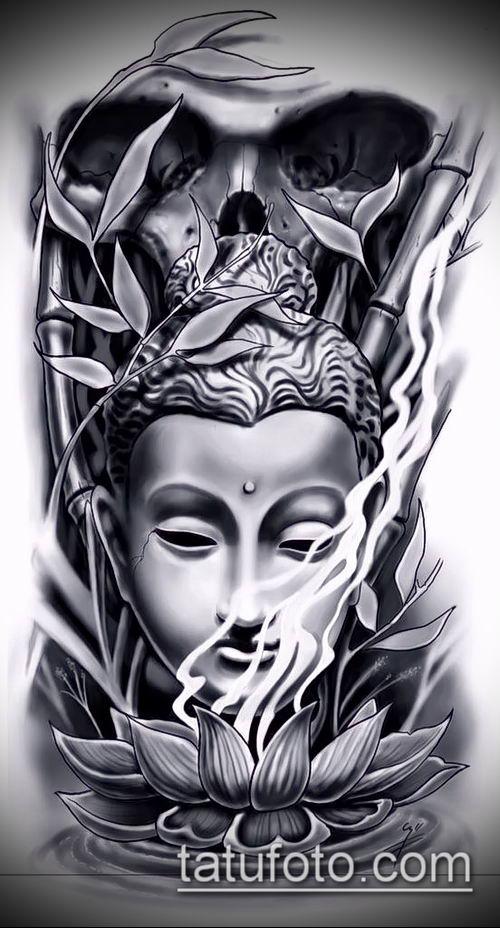 фото тату Будда (Buddha tattoo) (значение) - пример рисунка - 058 tatufoto.com