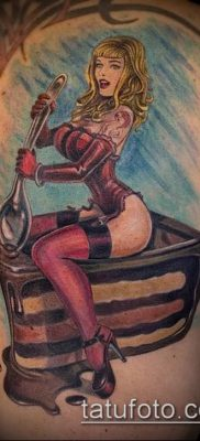 фото тату ПИРОЖНОЕ (Body tattoo cake) (значение) – пример рисунка – 007 tatufoto.com