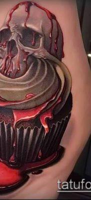 фото тату ПИРОЖНОЕ (Body tattoo cake) (значение) – пример рисунка – 014 tatufoto.com