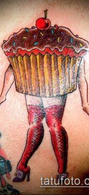 фото тату ПИРОЖНОЕ (Body tattoo cake) (значение) – пример рисунка – 022 tatufoto.com