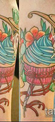 фото тату ПИРОЖНОЕ (Body tattoo cake) (значение) – пример рисунка – 028 tatufoto.com