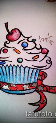 фото тату ПИРОЖНОЕ (Body tattoo cake) (значение) – пример рисунка – 031 tatufoto.com