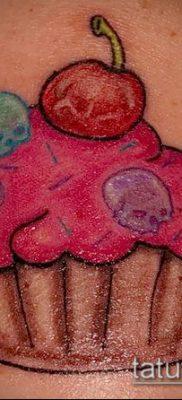 фото тату ПИРОЖНОЕ (Body tattoo cake) (значение) – пример рисунка – 032 tatufoto.com
