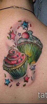 фото тату ПИРОЖНОЕ (Body tattoo cake) (значение) – пример рисунка – 033 tatufoto.com