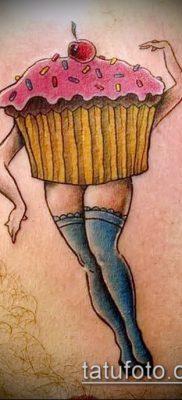 фото тату ПИРОЖНОЕ (Body tattoo cake) (значение) – пример рисунка – 034 tatufoto.com