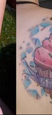 фото тату ПИРОЖНОЕ (Body tattoo cake) (значение) – пример рисунка – 037 tatufoto.com