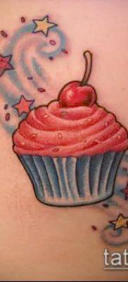 фото тату ПИРОЖНОЕ (Body tattoo cake) (значение) – пример рисунка – 040 tatufoto.com