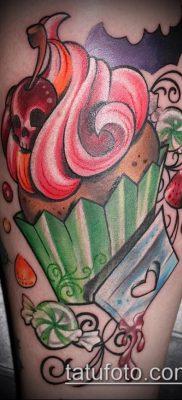 фото тату ПИРОЖНОЕ (Body tattoo cake) (значение) – пример рисунка – 043 tatufoto.com