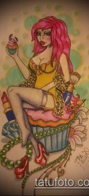 фото тату ПИРОЖНОЕ (Body tattoo cake) (значение) – пример рисунка – 044 tatufoto.com