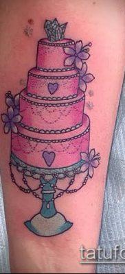 фото тату ПИРОЖНОЕ (Body tattoo cake) (значение) – пример рисунка – 047 tatufoto.com