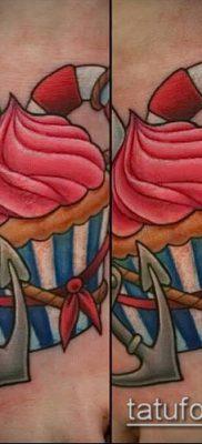 фото тату ПИРОЖНОЕ (Body tattoo cake) (значение) – пример рисунка – 054 tatufoto.com