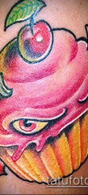 фото тату ПИРОЖНОЕ (Body tattoo cake) (значение) – пример рисунка – 060 tatufoto.com