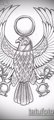 фото тату РА (Tattoo Ra) (значение) – пример рисунка – 009 tatufoto.com