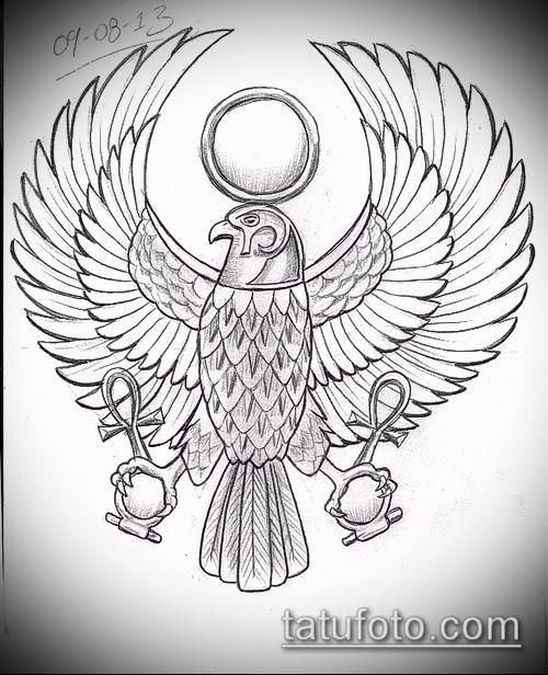 фото тату РА (Tattoo Ra) (значение) - пример рисунка - 009 tatufoto.com