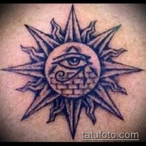 фото тату РА (Tattoo Ra) (значение) - пример рисунка - 017 tatufoto.com